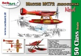 SebArt MACCHI MC72 50E RED / GOLD 1520 mm