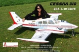 CY-MODEL  Cessna 310 ARF 3200 mm (2 x 26-30ccm) RED/WHITE