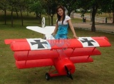 CY-MODEL  FOKKER DR-1 ARF 2400 mm (80-150 ccm) RED/WHITE